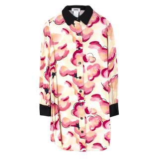 Sonia by Sonia Rykiel Silk Printed Shirt Dress