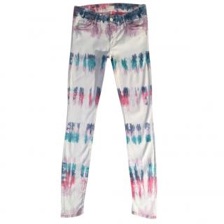 Mother The Looker Scaramouche tie dye skinny jeans