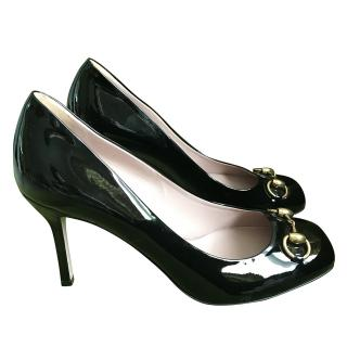 Gucci Horsebit Patent Pumps