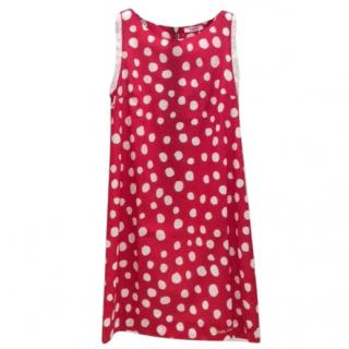 Blumarine Cotton Red Polka Dot Tea Dress