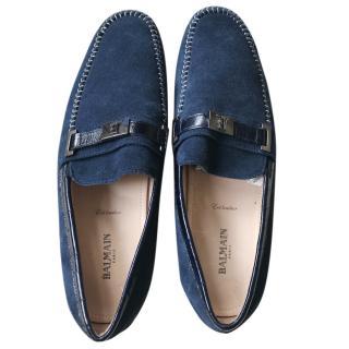 Balmain Men's Suede Loafers