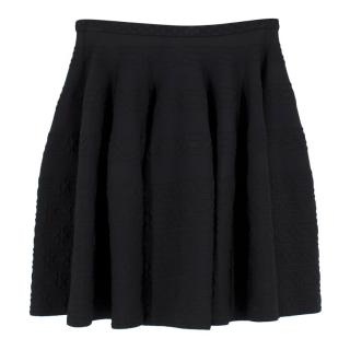 Alaia Black Knit Skater Skirt