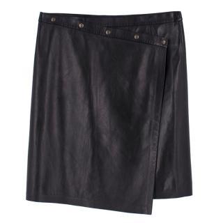 Gerard Darel Leather black Wrap Skirt