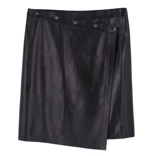 Gerard Darel Leather black Wrap Skirt