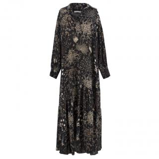 Chloe Silk Floral Maxi Dress