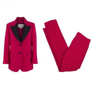 Gucci Pink Wool & Silk Suit