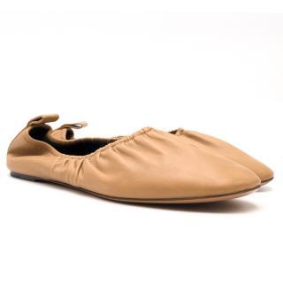 Celine Tan Stretch Ballerina Flats