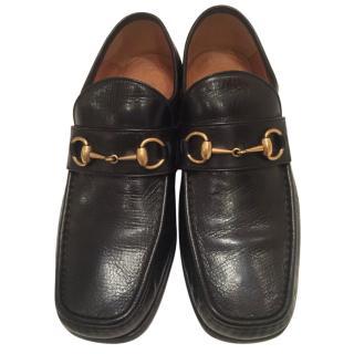 Gucci Black Horsebit Leather Loafer