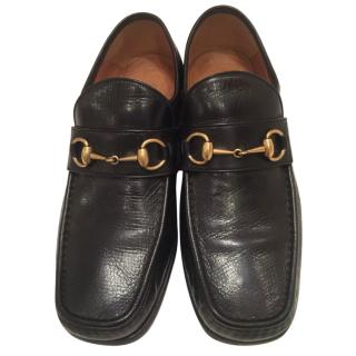Gucci Black Horsebit Leather Loafer