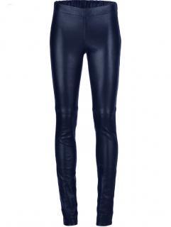 Joseph blue leather leggings