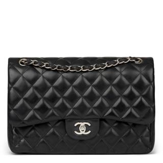 Chanel Black Quilted Jumbo Classic Double Flap Bag