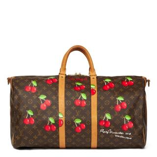 Louis Vuitton Hand-Painted Cherrie$ Keepall Bandouliere 55 Bag