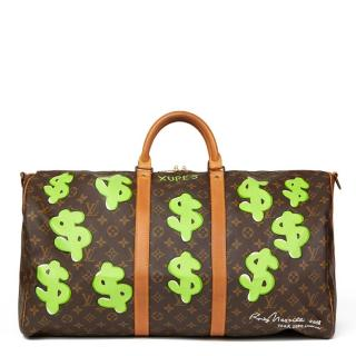 Louis Vuitton Hand Painted 'Benjamin$ Baby' Keepall Bandouliere 55