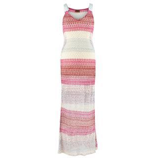 Missoni knit crochet maxi dress