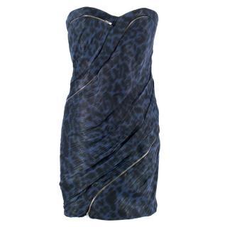 Jay Ahr Animal Print Mini Dress