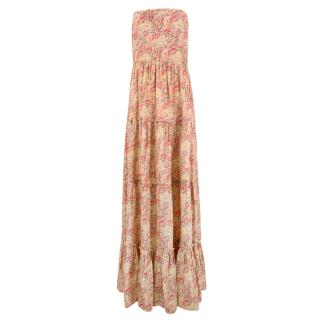 Calypso St.Barth Pink Silk Maxi Dress