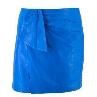 Isabel Marant Blue Leather Mini Skirt