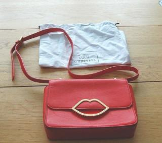Lulu Guinness Edie Small Leather Cross Body Bag