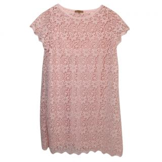 Ermanno Scervino  Pink Floral Lace Dress