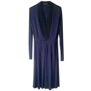 Sonia Rykiel navy blue long sleeved dress