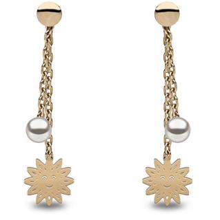 Kimura Pearls & Smiles Gold Earrings
