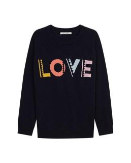 Chinti & Parker Love Intarsia Cashmere Sweater