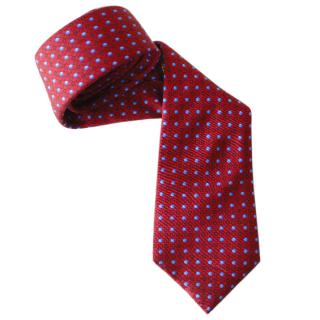Louis Vuitton Burgundy Silk Tie