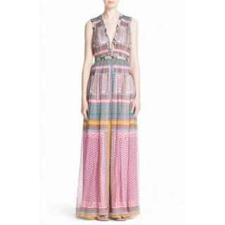 DIANE VON FURSTENBERG 'LELANI' Floral Print Maxi Dress