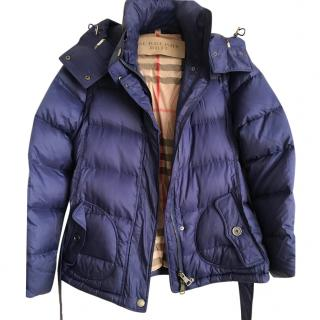Burberry padded blue down jacket