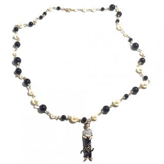 Chanel pear Coco charm necklace