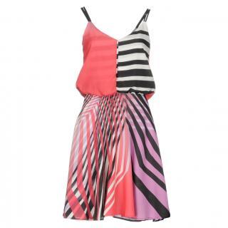 Marciano Printed gathered dress