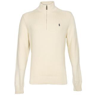 Ralph Lauren Cream Half Zip Sweater