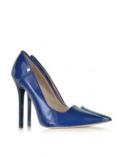Versace Jeans  Cobalt Blue Patent Leather Pump
