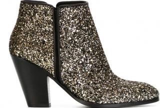 Giuseppe Zanotti Black and Gold Glitter Booties