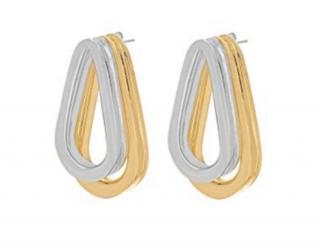 Annelise Michelson Double Gold Ellipse Earrings Rrp �329.00