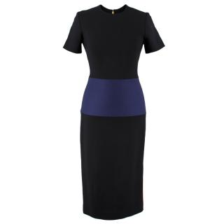 Roksanda Color Block Wool Blend Dress
