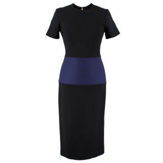 Roksanda Color Block Wool Blend Dress