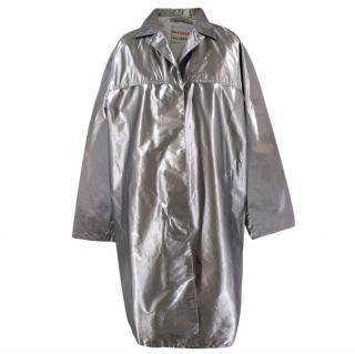 Prada Silver Raincoat