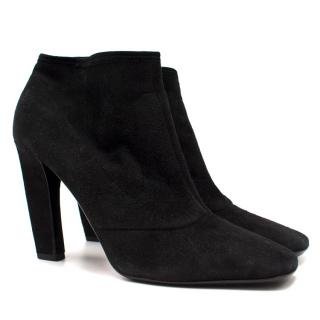 Prada Suede Black Heeled Boots