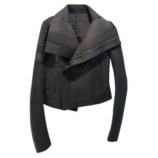 Rick Owens grey wool jacket with sequin detail