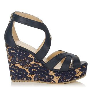 Jimmy Choo 144 Perry Wedge Sandals