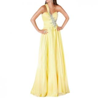 Jovani Yellow Evening Dress