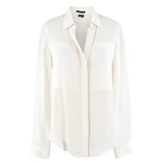 Theory Cream blouse