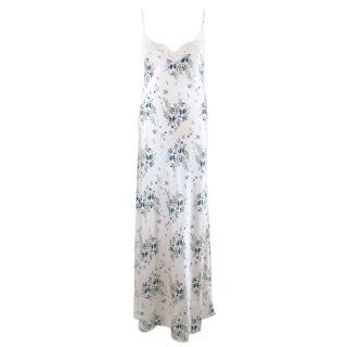 Sabbia Rosa Patterned Silk Night Dress