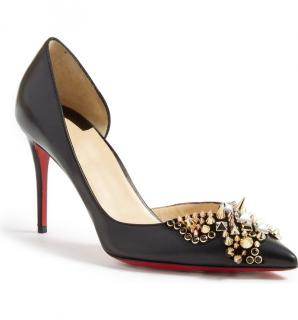 Christian Louboutin Farfaclou Spikes Half-d'orsay 85mm Red Sole Pumps