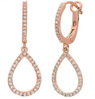 NAAVA Diamond Rose Gold Earrings 9ct gold