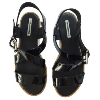 KARL LAGERFELD black sandals