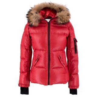 Sam Blake Fur-Trim Short Down Coat