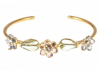 Gripoix Paris Glamour Flowers & Leaves Bracelet