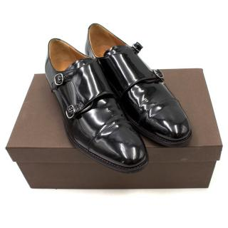 Church's Black Patent Leather Monk Shoes